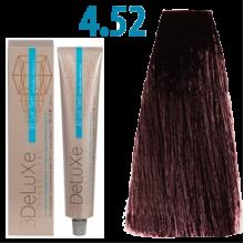4/52 Стійка крем-фарба для волосся 100 мл 3DELUXЕ