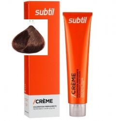 5-5 SUBTIL стійка крем-фарба для волосся 60мл LAB.DUCASTEL світлий шатен червоне дерево