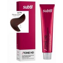 6/74 Subtil Tone HD MARRON CUIVRE тонуюча крем-фарба  для волосся , 60мл LAB.DUCASTEL темний блондин шоколадно-мідний